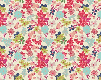 Art Gallery Fabric Fusions, Ladylike Abloom, Fabric By the Yard, Quilt Fabric, Woodland Fabric, Baby Girl Nursery Fabric, Pink Floral Fabric