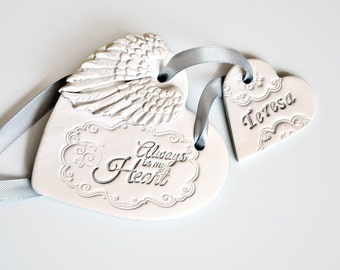 Always in my heart Sympathy gift, Lost loved one Condolence gift, Bereavement gift, Remembrance gift  Memorial ornament Grieving parent gift