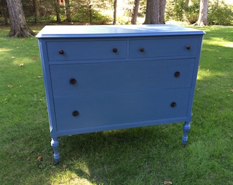 Vintage 1930s Blue Painted Carson Pirie Scott & Co Dresser
