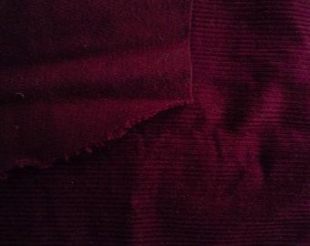 Plum corduroy fabric - 50 * 15 cm