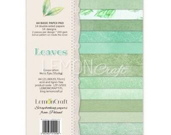 Lemoncraft Leaves A4 Designer Scrapbook Paper
