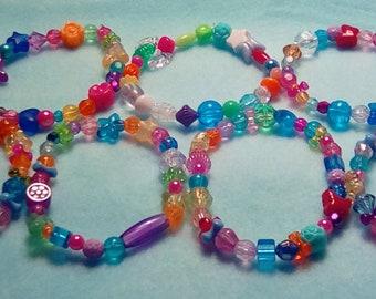 Set of 7 Colorful KAWAII RAINBOW CHAOS Bracelets