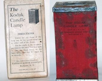 1910 era Kodak Candle Lamp With Original Box Used in the Darkroom-- Free Shipping