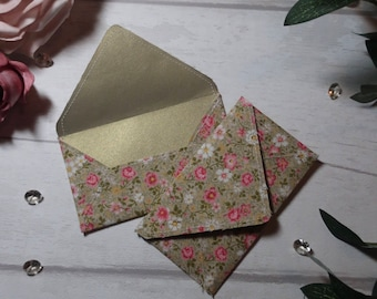 Pink and White Floral Fabric Envelope