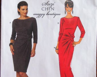 Butterick 5675.  Misses dress pattern.  Suzi Chin Maggy Boutique dress.  Mother of bride or groom dress.  Formal dress pattern. Sizes 8-14.