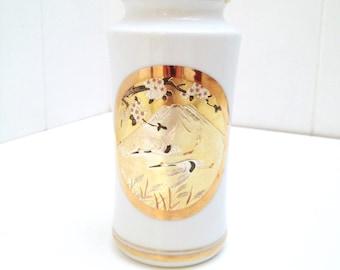 Porcelain Vase with Japanese Chokin Art