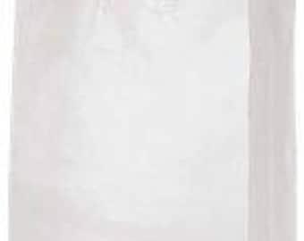 25-Jumbo Clear Frosty Shopper 16x6x19