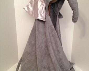 elephant hooded bath towel