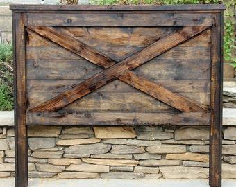 custom headboard scheme barn door queen with made track rustic of