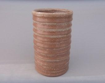 Handmade Pottery Wine Chiller, Unique Ceramic Matte Brown Wine Enthusiast Gift