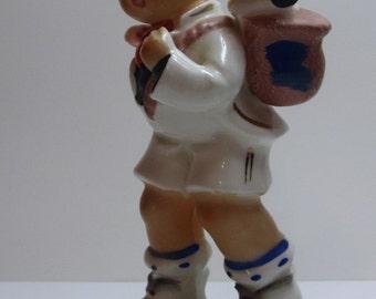Large Hummel Boy and Puppy Dog Figurine
