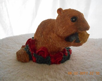 Brown Squirrel Christmas Figurine  ~ Christmas Pets