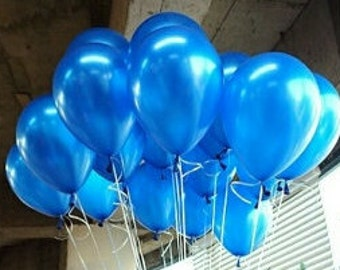 Blue Balloons, Metallic Blue Balloons, Party Balloons, Balloons 30cm, Pkt 12