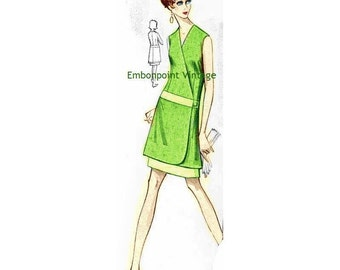 Plus Size (or any size) Vintage 1969 Dress Pattern - PDF - Pattern No 82 Eva