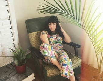60's Cotton Overall Summer Jumpsuit!