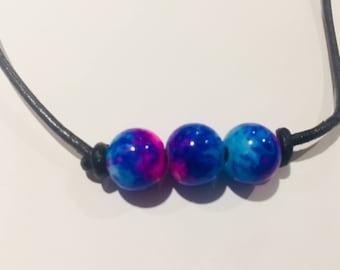 Triple Galaxy Beachy Leather Jewelry