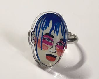 The Masterful Leigh Bowery Club Kid Extraordinaire Acrylic Ring
