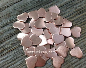 20g Copper Hearts - Jewelry Blank Hand Stamping Supplies
