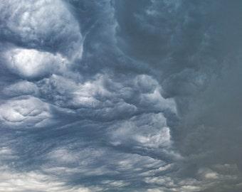 Large Print Storm, Nebraska Photo, Storm Clouds, Large Landscape, Large Wall Art, Large Midwest Photo, Big Field Print, Farmland, Nature