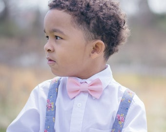 Blush Pink Bow Ties for Boys - Baby Bow Tie for Kids - Pink Tie for Wedding - Designer Bow Ties for Kids - Pre-Tied Bow Tie for Toddlers