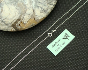 """16"""" 18"""" 20"""" 24"""" Medium Trace Sterling Silver chain, 925 sterling silver necklace, 925 silver chain, STS"""
