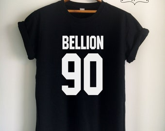 Bellion Shirt Bellion T Shirt Bellion Merch Print on Front or Back side for Women Girls Men Tumblr Top Tee Jersey White/Black/Grey/Red