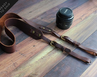 Leather Camera Strap, DSLR Camera Strap, Adjustable Camera Strap, Nikon, Canon, Camera Accessories, Photographer Gift