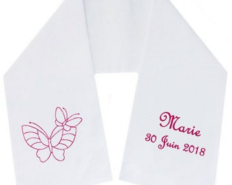 Scarf scarf embroidered personalized butterflies free shipping