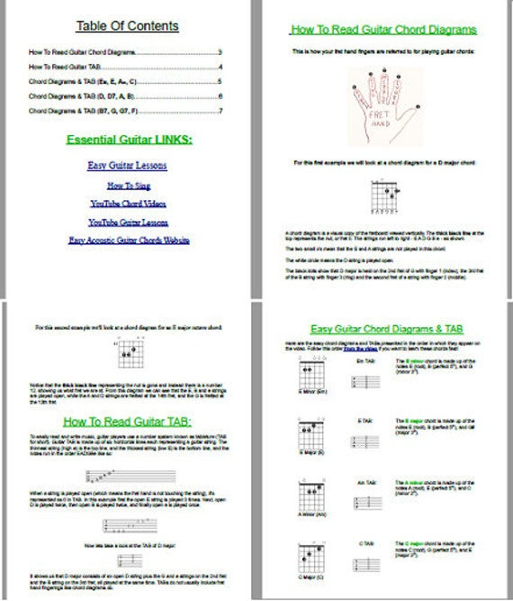 Essential Guitar Chords Diagrams Tab How To Play Guitar
