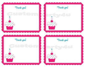 Cupcake Thank You Cards Boy or Girl