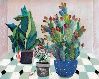 Fruit garden - illustration - giclee print