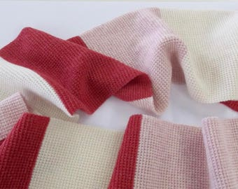 Red and Pink Stripe Scarf