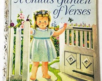 A Child's Book of Verses.  Little Golden Book.  Eloise Wilkin.  Vintage Children's Books.  Circa 1957.