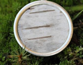 White Birch Pendant in Sterling Silver