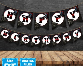 Batman vs Superman Banner, Batman vs Superman Birthday Banner, Batman vs Superman Birthday Party, Batman vs Superman Instant Download