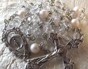 April/Diamond Crystal Birthstone Rosary