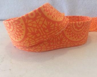Cotton Quilt Binding- Orange Morocco