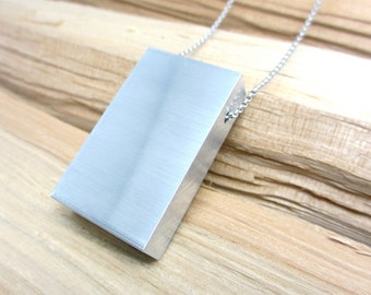 Statement Necklace Minimalist Necklace Material Purity Monolith Design