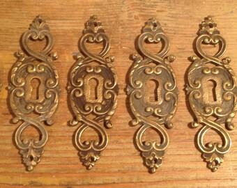 Set of 6 decorative pieces for locks