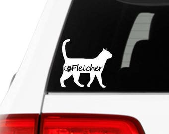 Personalized Cat Sticker