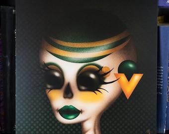 10 X 10 Loki Skull