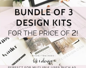 Special 3 pack bundle!!!! - Days of the week, Months of the Year, Seasons and Numbers! Project Life Printable cards. digital download
