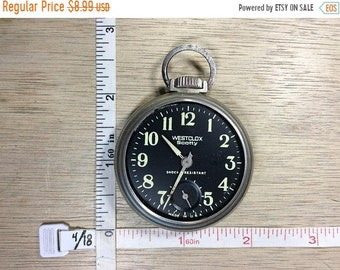 10%OFF3DAYSALE Vintage Westclox Pocket Watch No Crystal Not Working Used