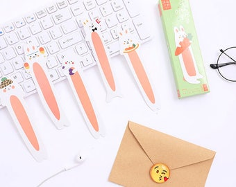 30pcs Kawaii Rabbit Bookmarks,Paper Bookmark, Cut out Bookmark, Kawaii Stationery,Panda,Scrapbook Supplies