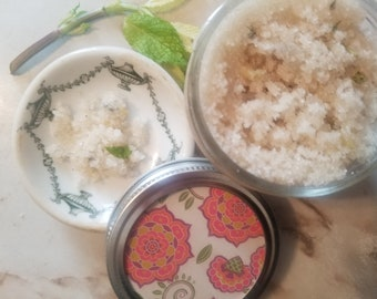 Green Tea with ginger & mint Sugar Scrub