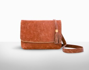 Brown Leather Purse, Leather Crossbody Bag /Convertible clutch, Small leather bag, design leather bag,  leather purse, small handbag, luxury