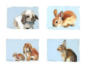 Emmy's Bunnies prints, save when you buy all 4!