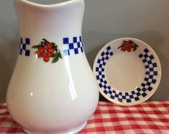 Vintage LIMOGES Porcelain Milk / Cream Jug, Limoges Creamer, Creamer and Saucer, French Fine Porcelain