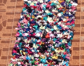 Boucherouite Tapis items similar to authentic moroccan carpet boucherouite on etsy