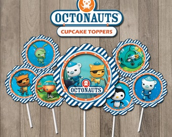 Octonauts Cupcake Toppers, Octonauts Party, Octonauts Printable Toppers